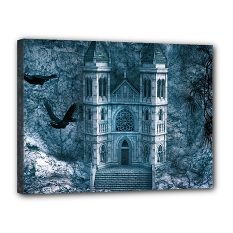 Church Stone Rock Building Canvas 16  x 12
