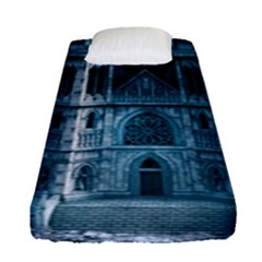 Church Stone Rock Building Fitted Sheet (Single Size)