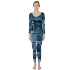 Church Stone Rock Building Long Sleeve Catsuit