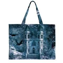 Church Stone Rock Building Zipper Large Tote Bag by Celenk