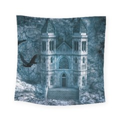 Church Stone Rock Building Square Tapestry (Small)