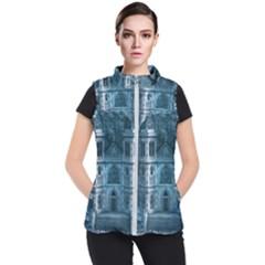 Church Stone Rock Building Women s Puffer Vest