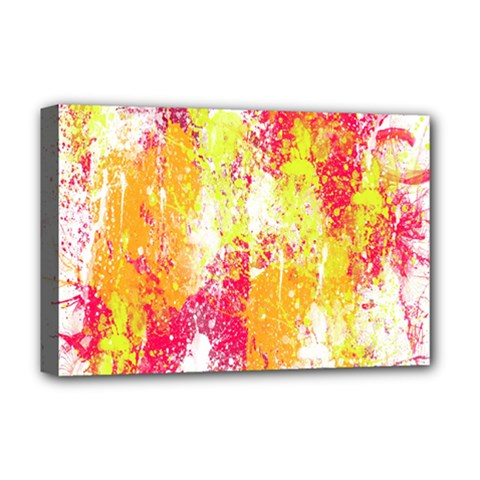 Painting Spray Brush Paint Deluxe Canvas 18  X 12   by Celenk