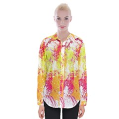 Painting Spray Brush Paint Womens Long Sleeve Shirt