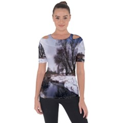 Winter Bach Wintry Snow Water Short Sleeve Top
