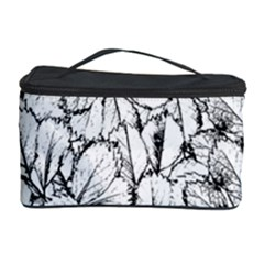 White Leaves Cosmetic Storage Case by SimplyColor