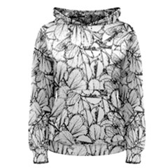 White Leaves Women s Pullover Hoodie by SimplyColor