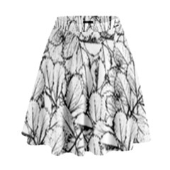 White Leaves High Waist Skirt by SimplyColor