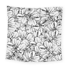 White Leaves Square Tapestry (large) by SimplyColor