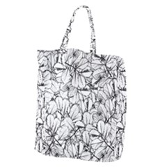 White Leaves Giant Grocery Zipper Tote by SimplyColor