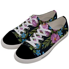Beautiful Floral Pattern Women s Low Top Canvas Sneakers by allthingseveryone