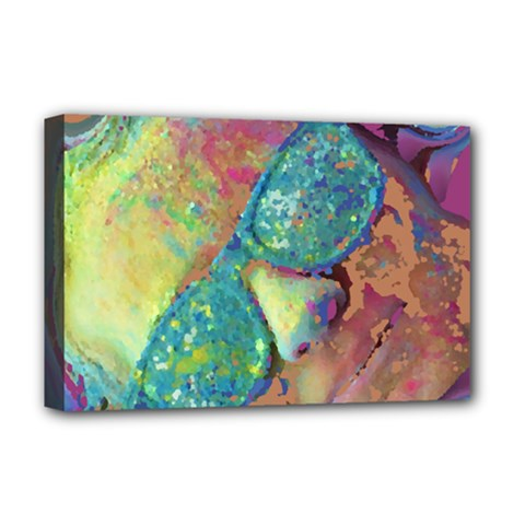 Holi Deluxe Canvas 18  X 12   by CannyMittsDesigns