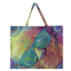 Holi Zipper Large Tote Bag by CannyMittsDesigns