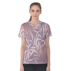Rose Gold, Asian,leaf,pattern,bamboo Trees, Beauty, Pink,metallic,feminine,elegant,chic,modern,wedding Women s Cotton Tee
