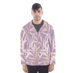 Rose Gold, Asian,leaf,pattern,bamboo Trees, Beauty, Pink,metallic,feminine,elegant,chic,modern,wedding Hooded Wind Breaker (men)
