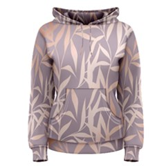 Rose Gold, Asian,leaf,pattern,bamboo Trees, Beauty, Pink,metallic,feminine,elegant,chic,modern,wedding Women s Pullover Hoodie