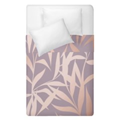 Rose Gold, Asian,leaf,pattern,bamboo Trees, Beauty, Pink,metallic,feminine,elegant,chic,modern,wedding Duvet Cover Double Side (single Size)