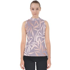 Rose Gold, Asian,leaf,pattern,bamboo Trees, Beauty, Pink,metallic,feminine,elegant,chic,modern,wedding Shell Top by 8fugoso