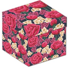 Pink Roses And Daisies Storage Stool 12   by AllThingsEveryone