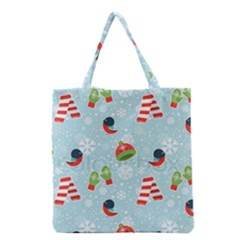 Winter Fun Pattern Grocery Tote Bag by AllThingsEveryone