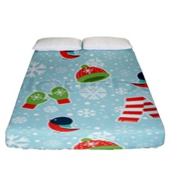 Winter Fun Pattern Fitted Sheet (king Size) by allthingseveryone
