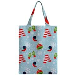Winter Fun Pattern Zipper Classic Tote Bag by allthingseveryone