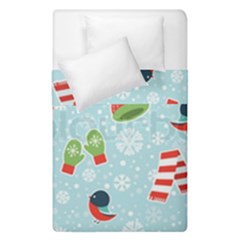 Winter Fun Pattern Duvet Cover Double Side (single Size) by AllThingsEveryone