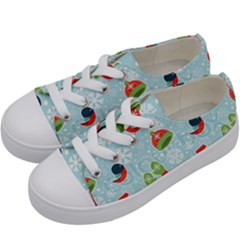 Winter Fun Pattern Kids  Low Top Canvas Sneakers by AllThingsEveryone