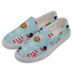 Winter Fun Pattern Men s Canvas Slip Ons by AllThingsEveryone