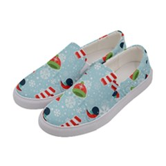 Winter Fun Pattern Women s Canvas Slip Ons by AllThingsEveryone