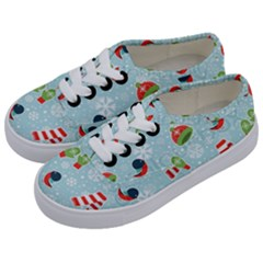 Winter Fun Pattern Kids  Classic Low Top Sneakers by AllThingsEveryone