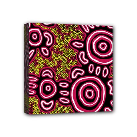 Aboriginal Art   You Belong Mini Canvas 4  X 4  by hogartharts