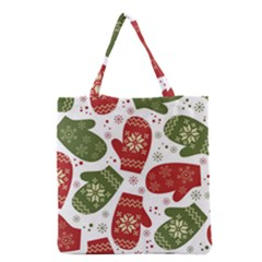 Winter Snow Mittens Grocery Tote Bag by AllThingsEveryone