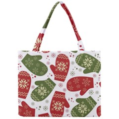 Winter Snow Mittens Mini Tote Bag by AllThingsEveryone