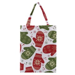 Winter Snow Mittens Classic Tote Bag by AllThingsEveryone