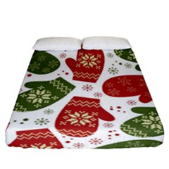 Winter Snow Mittens Fitted Sheet (california King Size) by allthingseveryone