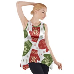 Winter Snow Mittens Side Drop Tank Tunic by allthingseveryone