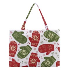 Winter Snow Mittens Medium Tote Bag by AllThingsEveryone
