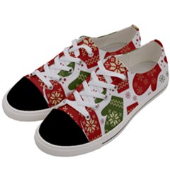 Winter Snow Mittens Women s Low Top Canvas Sneakers by AllThingsEveryone
