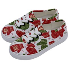 Winter Snow Mittens Kids  Classic Low Top Sneakers by AllThingsEveryone
