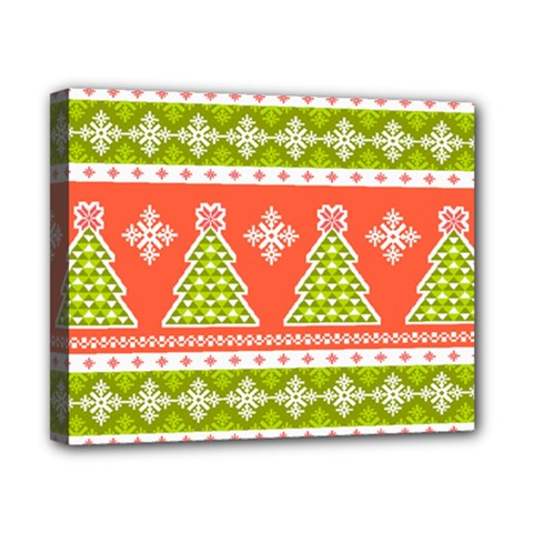 Christmas Tree Ugly Sweater Pattern Canvas 10  X 8  by allthingseveryone