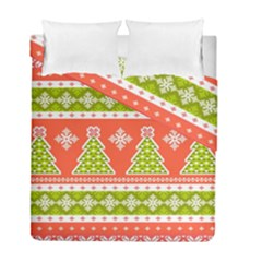 Christmas Tree Ugly Sweater Pattern Duvet Cover Double Side (full/ Double Size) by AllThingsEveryone