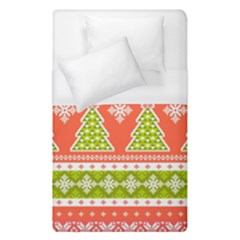 Christmas Tree Ugly Sweater Pattern Duvet Cover (single Size) by allthingseveryone