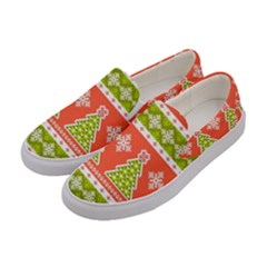 Christmas Tree Ugly Sweater Pattern Women s Canvas Slip Ons by AllThingsEveryone