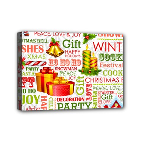 The Joys Of Christmas Mini Canvas 7  X 5  by allthingseveryone