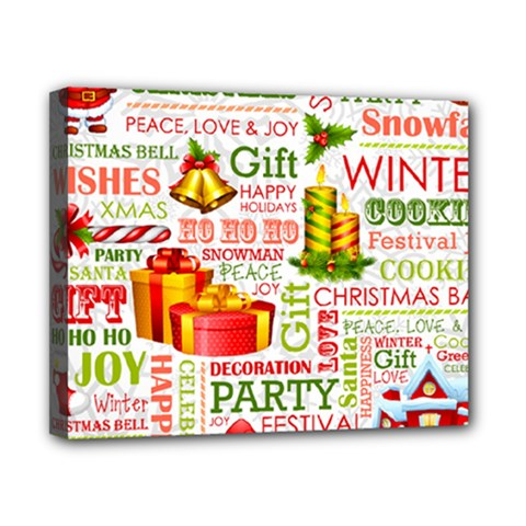 The Joys Of Christmas Canvas 10  X 8  by AllThingsEveryone