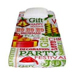 The Joys Of Christmas Fitted Sheet (single Size) by allthingseveryone