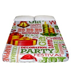 The Joys Of Christmas Fitted Sheet (queen Size) by AllThingsEveryone