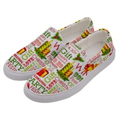 The Joys Of Christmas Men s Canvas Slip Ons by AllThingsEveryone