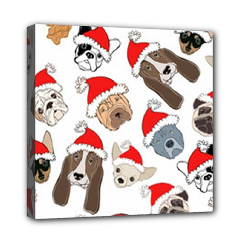 Christmas Puppies Mini Canvas 8  X 8  by AllThingsEveryone